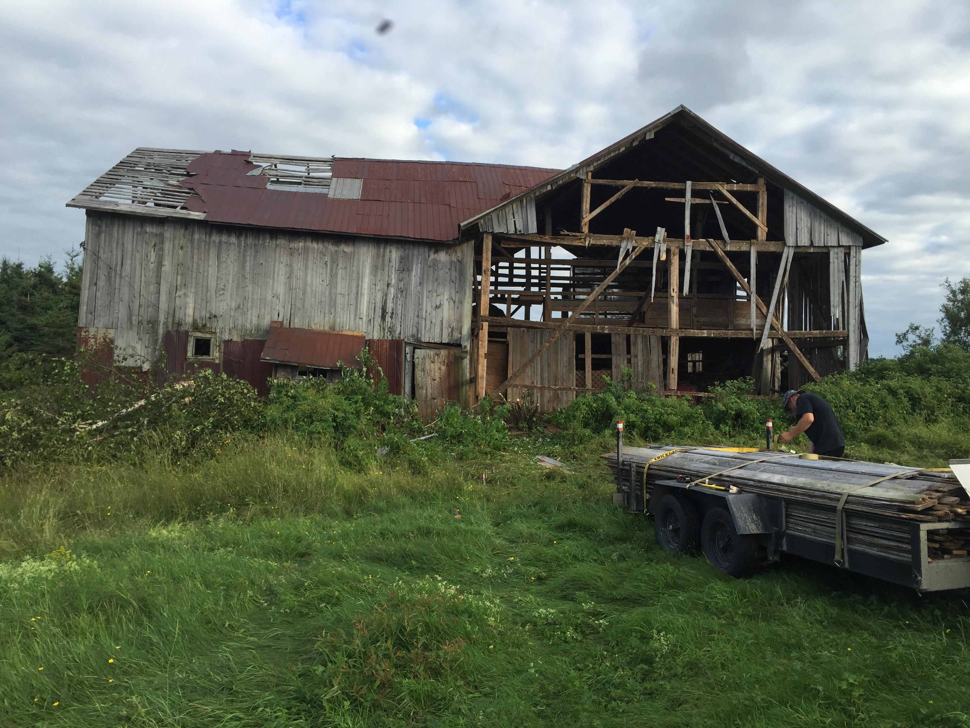 Demolition de grange