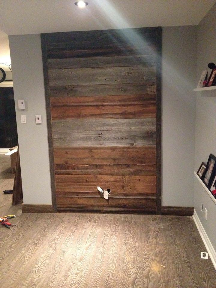 Mix Grey Brown barn wood wall