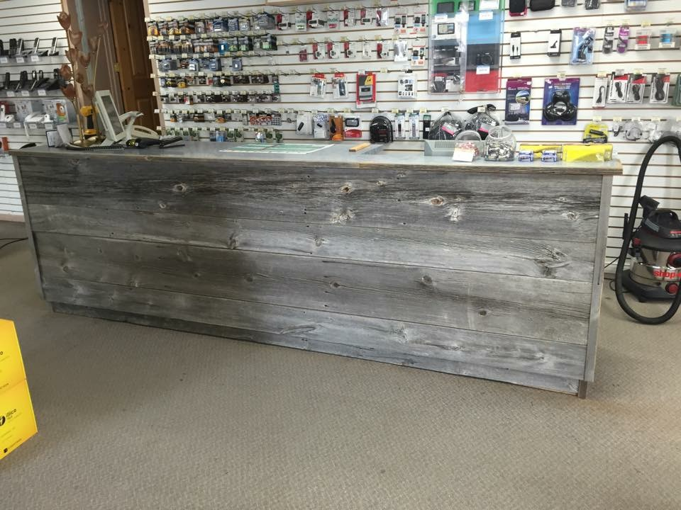 Reclaimed barn wood counter