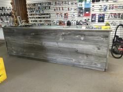 Reclaimed barn wood counter