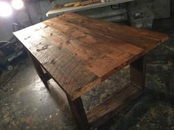 Table sur mesure en bois de grange
