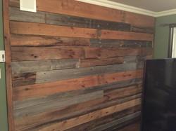 Reclaimed barn wood wall