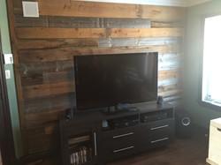 Mur de bois recyclé