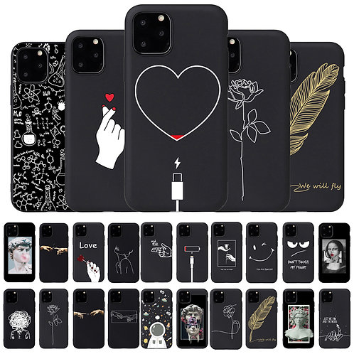 Cartoons And Quotes Silicon Soft Case for iPhone