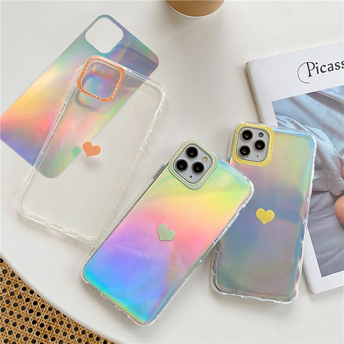 Luminous Love Heart Soft Phone Case for iPhone