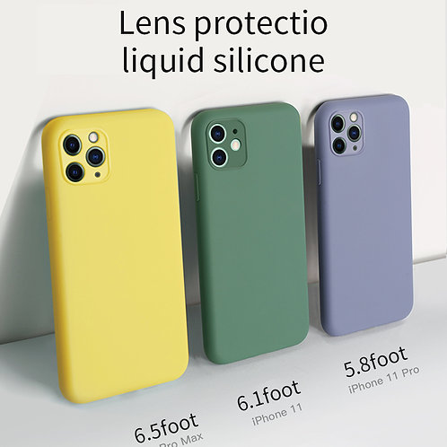 iPhone  Plain Silicon Soft Cases With Camera Protection