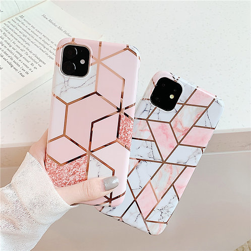 Marble Texture Cover Solid Color for iPhone