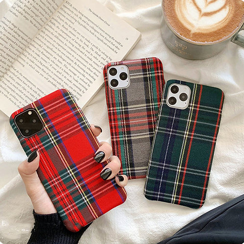 Cloth Texture Cases For iPhones