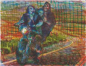 R_McCann- Rider, 8.5 x 10 in, Crayola ma