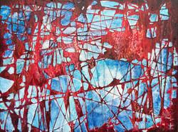 "Time Machine, Acrylic on canvas, 30x40"" 2018"