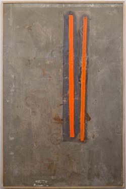 "Chris Esposito, ""Untitled"" concrete, orange wax (2015)"