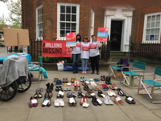 #Millionsmissing we make a stand in St Albans