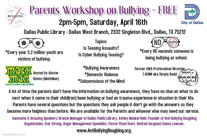 Parent Workshop on Bullying