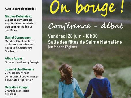 Conférence débat à Ste Nathalène : climat-énergie, on bouge