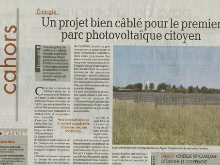 Un projet bien câblé pour le premier parc photovoltaïque citoyen # La Depêche papier 6 juillet 2021