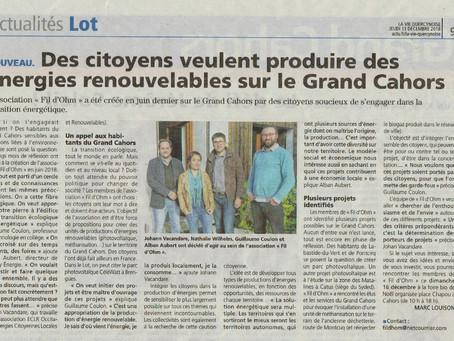 Des citoyens veulent produire des énergies renouvelables sur le grand Cahors