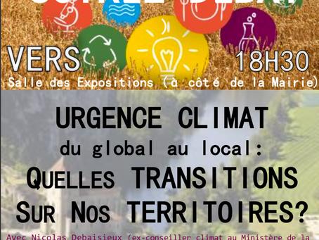 Conférence Débat # Urgence Climat # avec l'association La Fabrique # à Vers