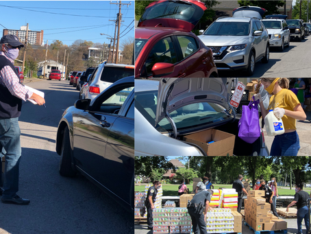 Food Bank Distribution During Covid and Community Baby Shower