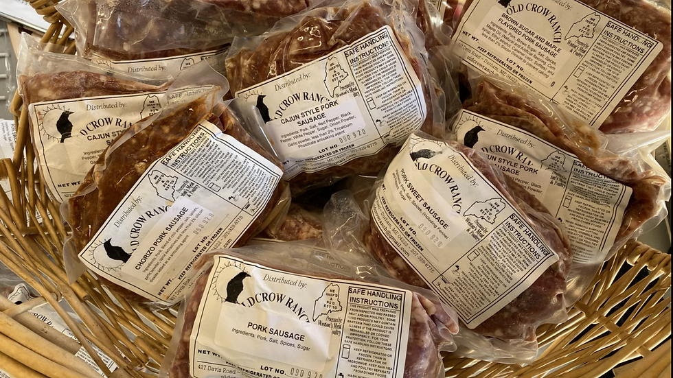 20 lb Pork Sausage Variety Pack