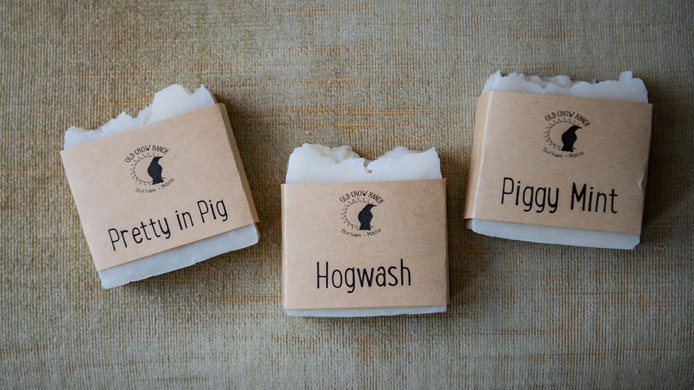 Soaps made by Whispering Woods Farm