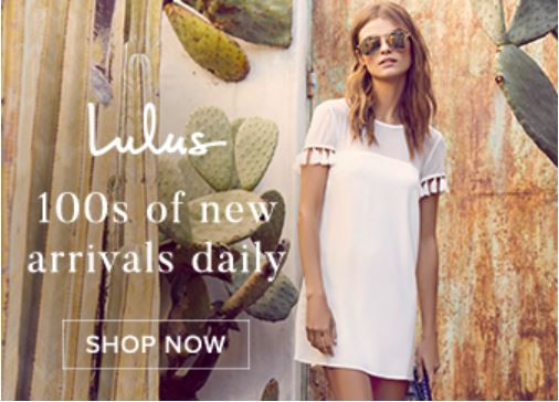 Check out Lulus for your latest Spring Fashions! I love Lulus!
