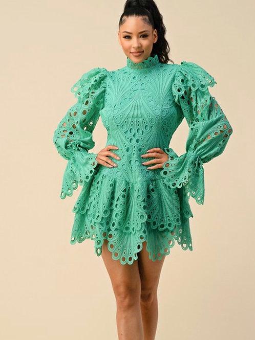 Crochet Peplum dress