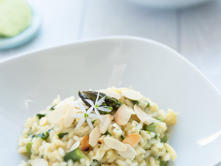 Risotto all'aglio selvatico e asparagi