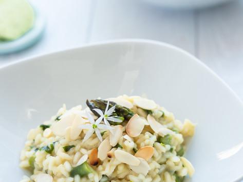 Risotto all'aglio selvatico e asparagi