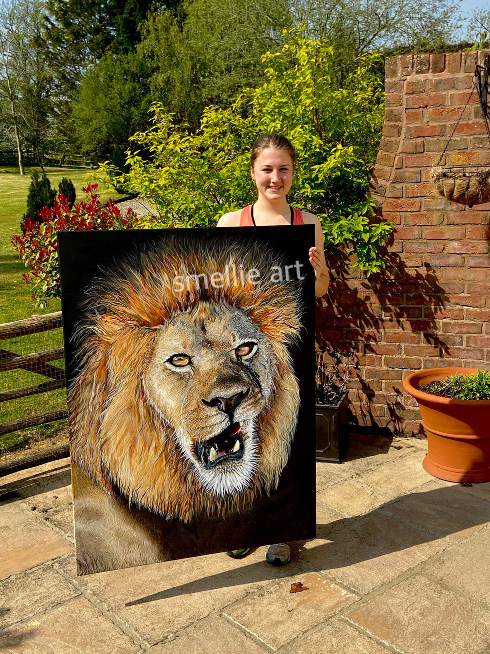 Lion and Artist (SMELLIE ART)