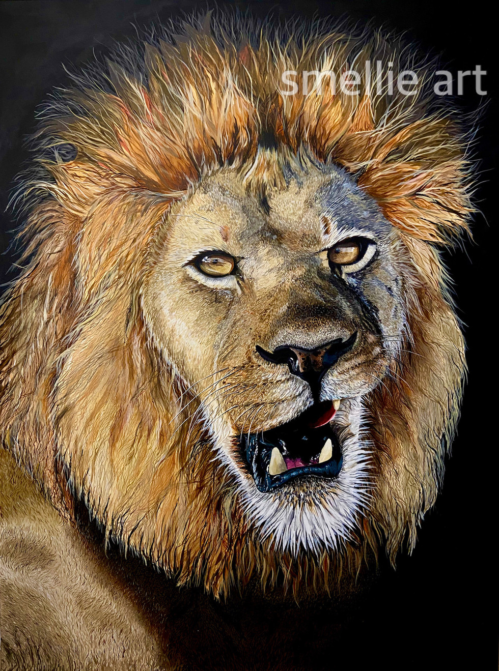 SMELLIE ART - Lion Painting