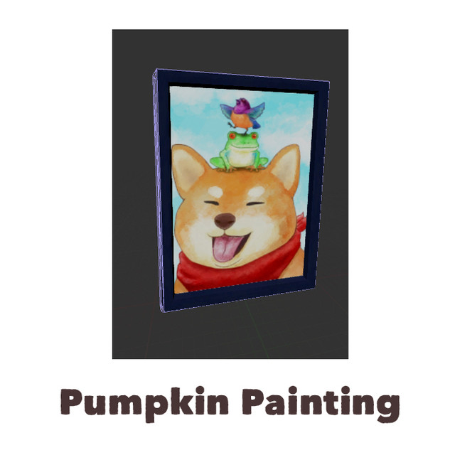 Custom Digital Pumpkin Painting