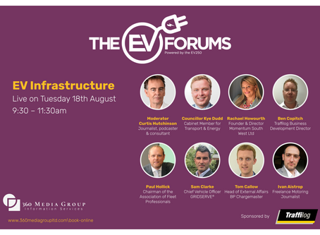 Developing the EV Infrastructure webinar sponsored by Traffilog - August 18th 2020
