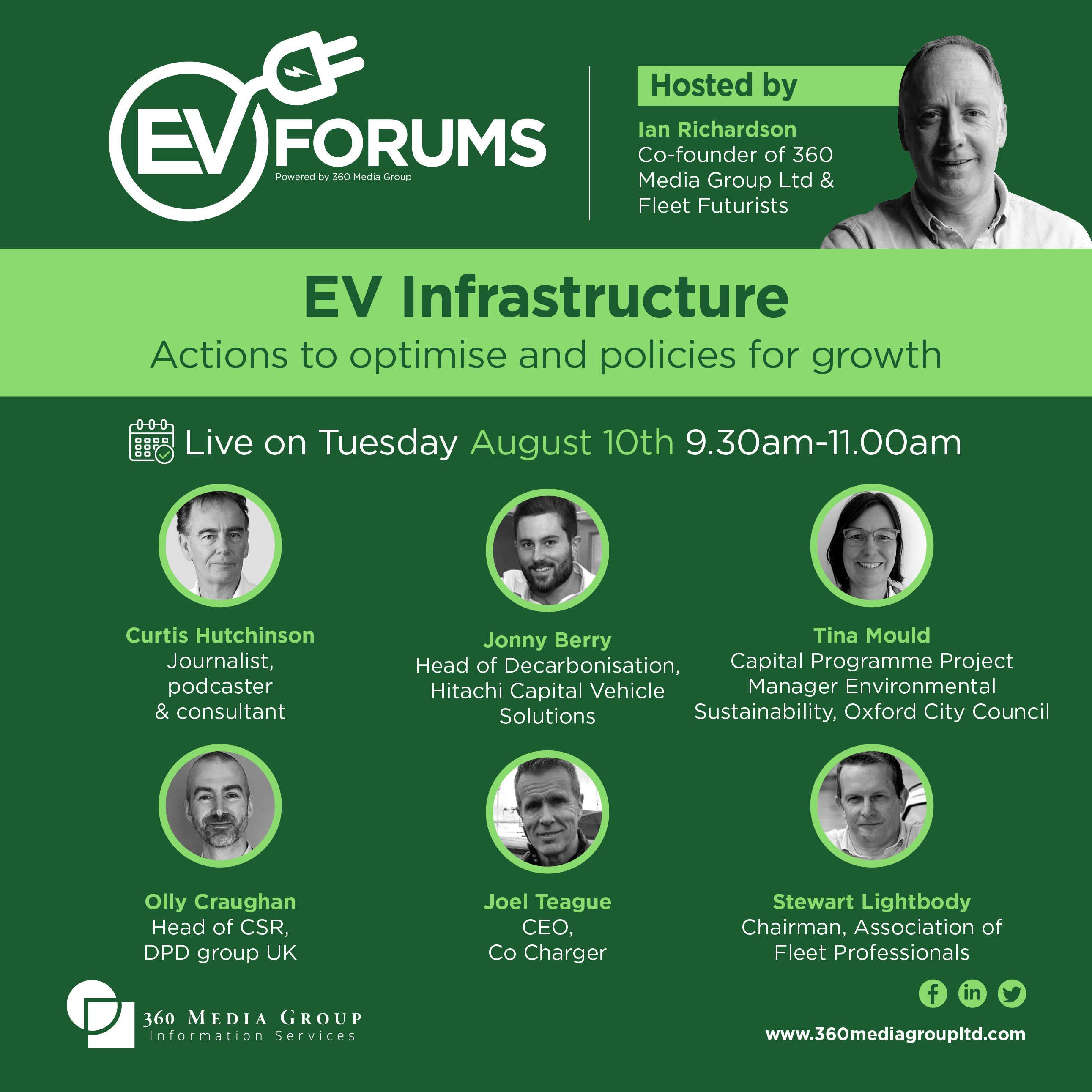 EV Forums  - Tues  Aug 10th 2021 9.30am