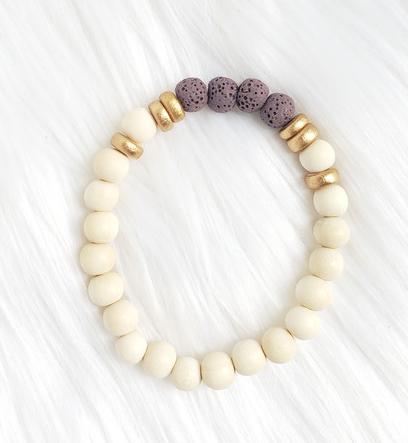 Lava Stone Bead Bracelet