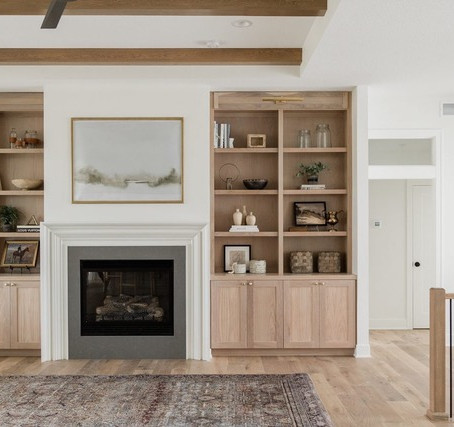 Creating functional and beautiful spaces with built-in shelving