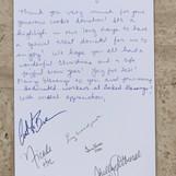 Letter from Fairbanks Memorial Hospital