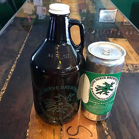 Some Nerve Brewing Company Growlers and Crowlers