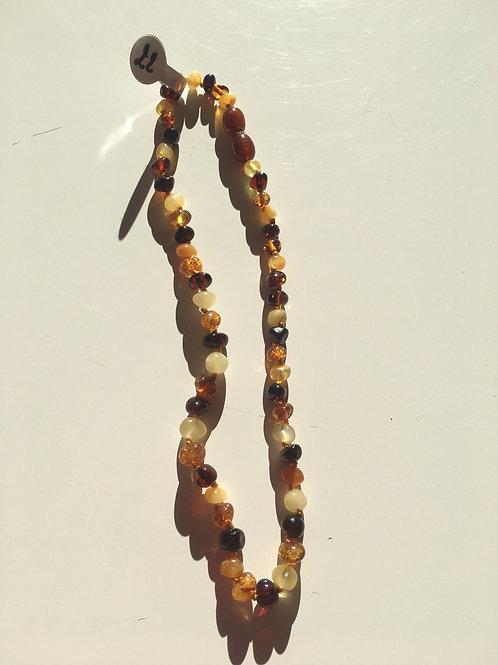Collier bébé ambre multi