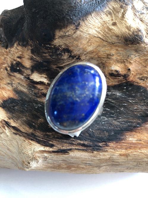 Bague argent en lapiz Lazuli