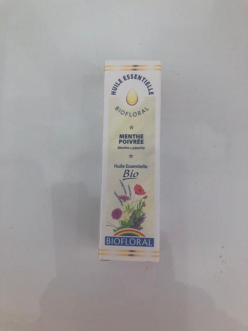 Huile essentielle bio florale menthe poivrée