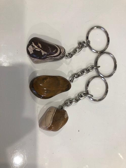 Porte clé en jaspe brun