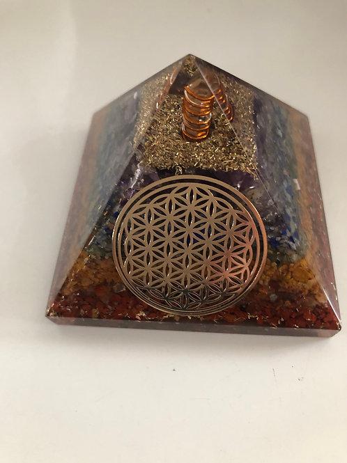 Pyramide orgonite et 7 chakras