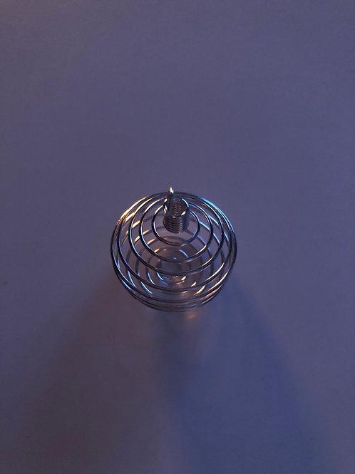 Spirale acier argenté grand modèle