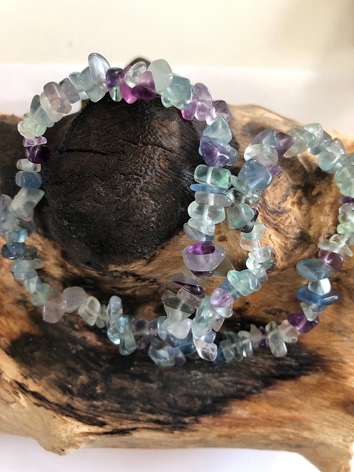 Bracelet baroque en fluorite