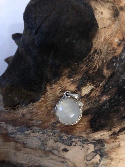 Pendentif argent en pierre de lune