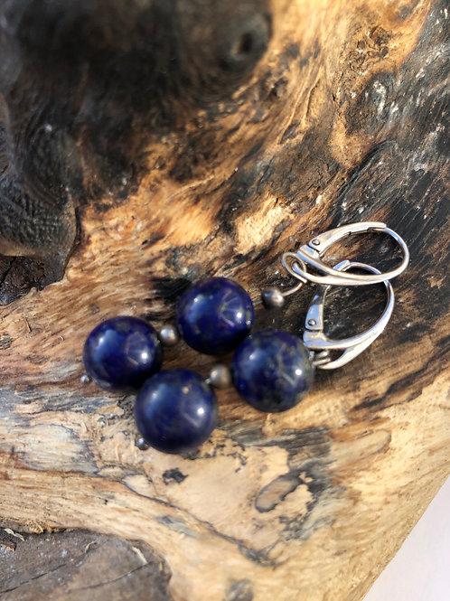 Paire de b.o lapis lazuli