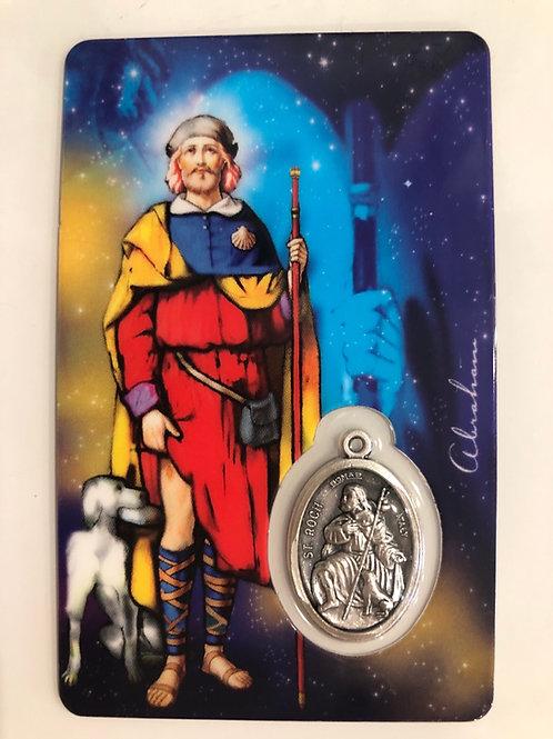 Médaille sur Carte Saint Roch