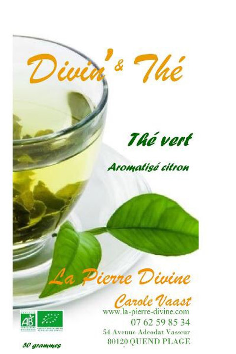 Thé vert aromatisé citron