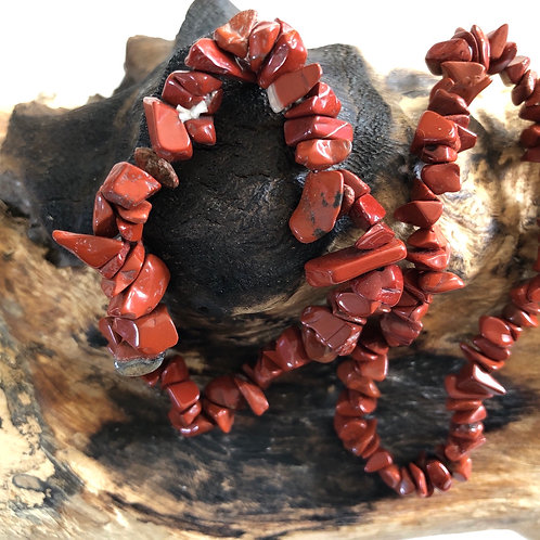 Bracelet baroque en jaspe rouge
