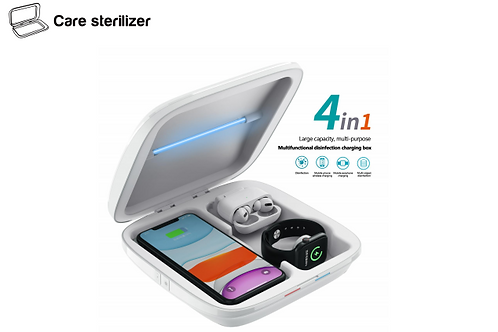 4 in 1 Cellphone Care Sterilizer, Multifunctional Disinfection Charging Box